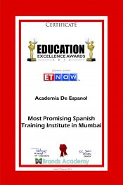award for most promising spanish training institute in mumbai