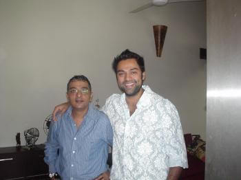 Mr. Dinesh Govindani with his student - Bollywood actor Abhay Deol