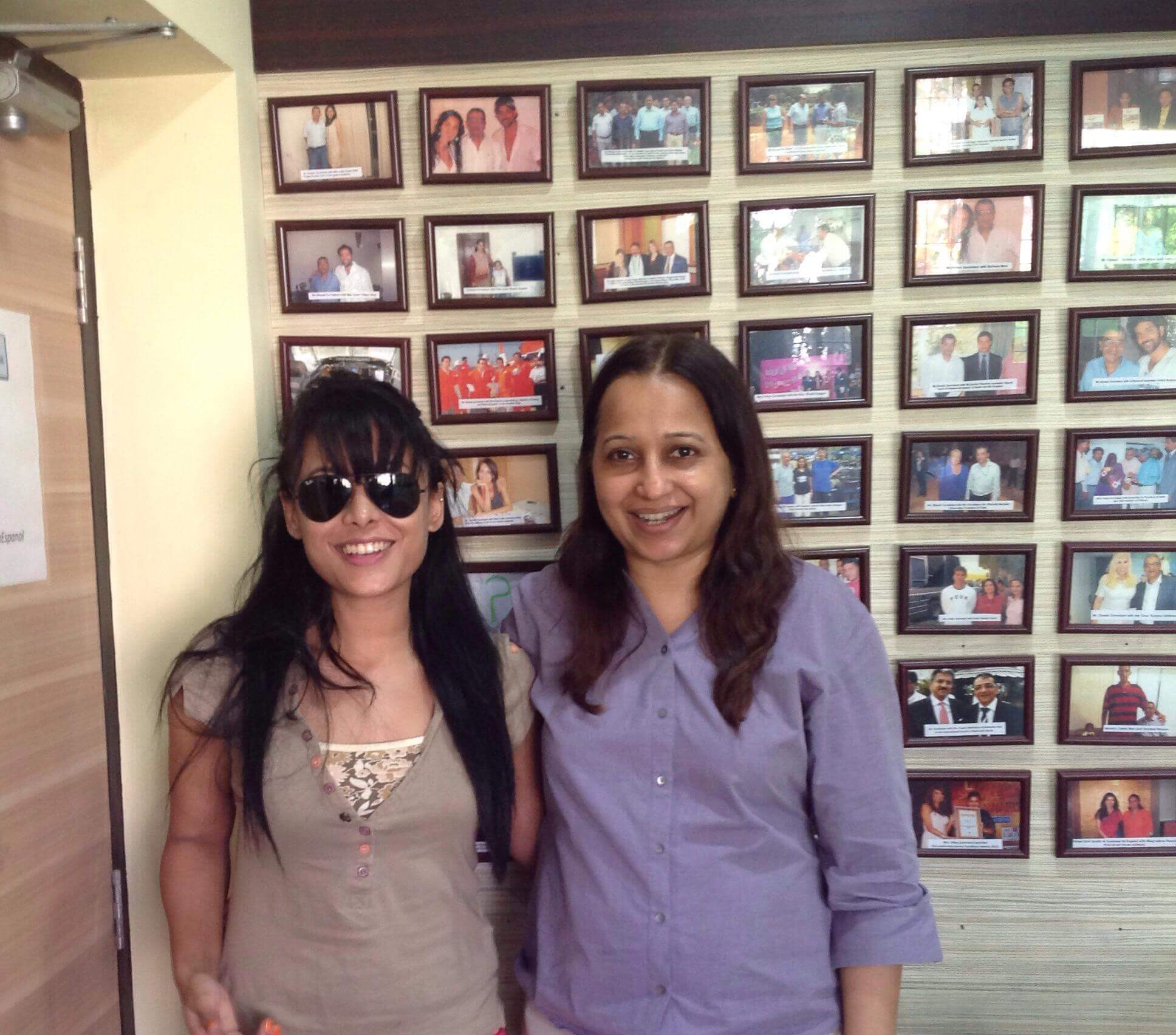 Vidya Govindani with her student - International Actress Reeth Mazumder of A Scandall