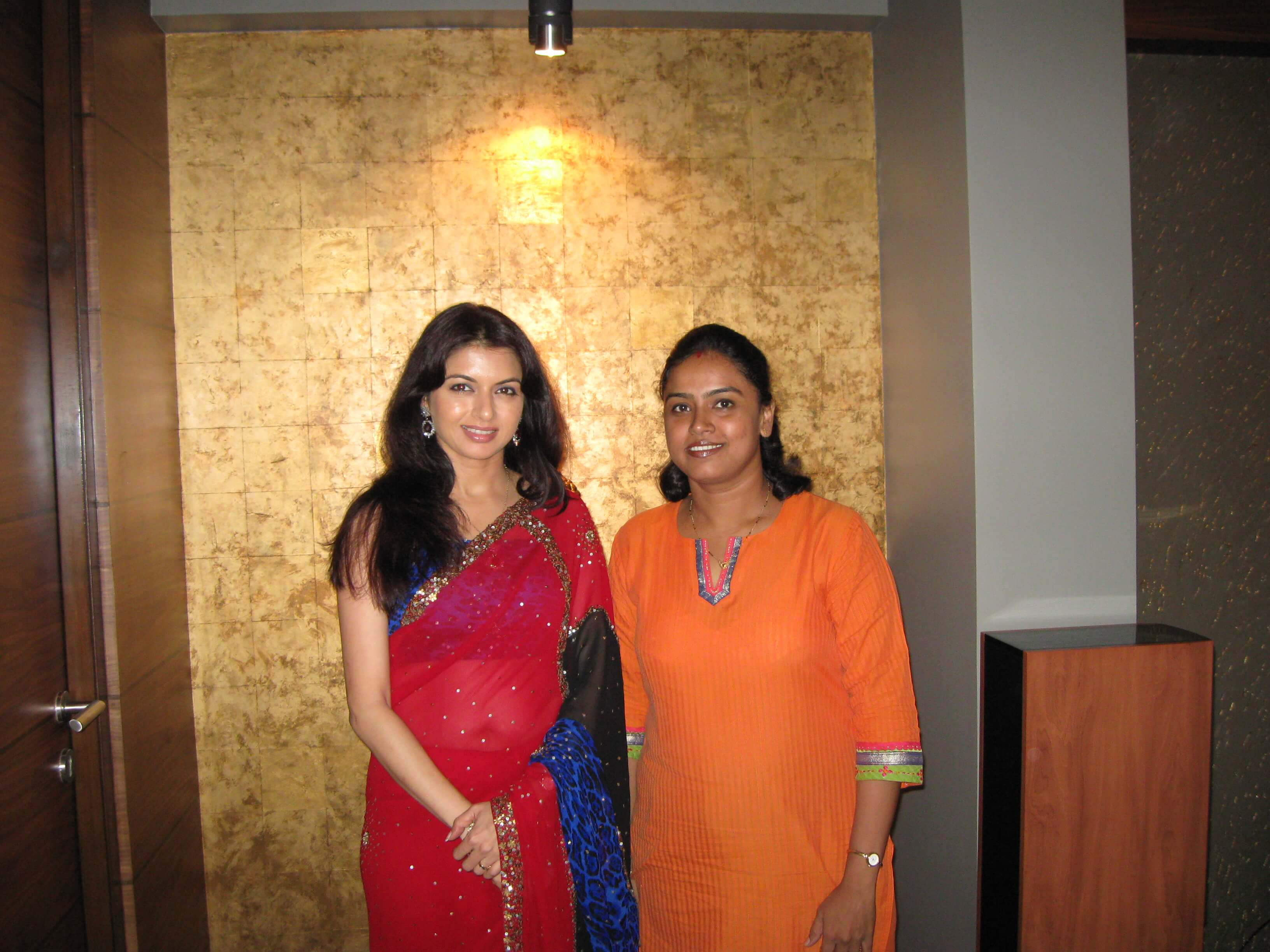 Our faculty Shilpa Ijeri with Bollywood Actress Bhagyashree Patwardhan, one of our students