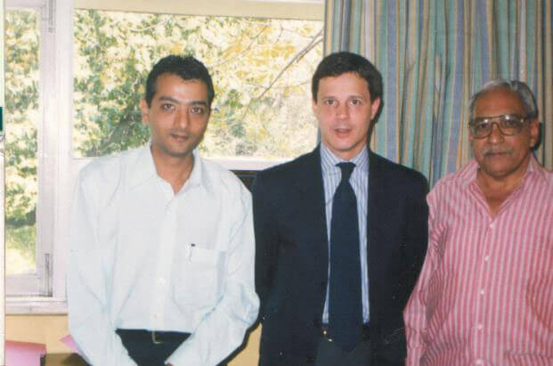 Mr. Dinesh Govindani with Mr. Emilio Vilanova counselor deputy head of Mission & Embassy of Spain and Mr. Gopalan