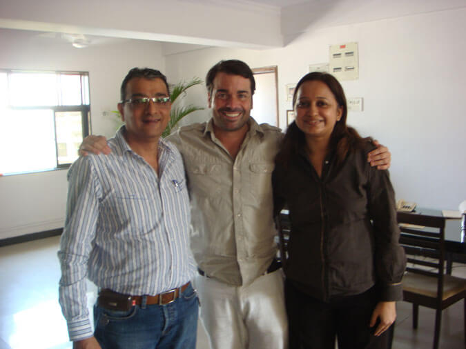 Mr. and Mrs. Govindani along with Janue Sanllorente the founder of the NGO Smiles of Bombay