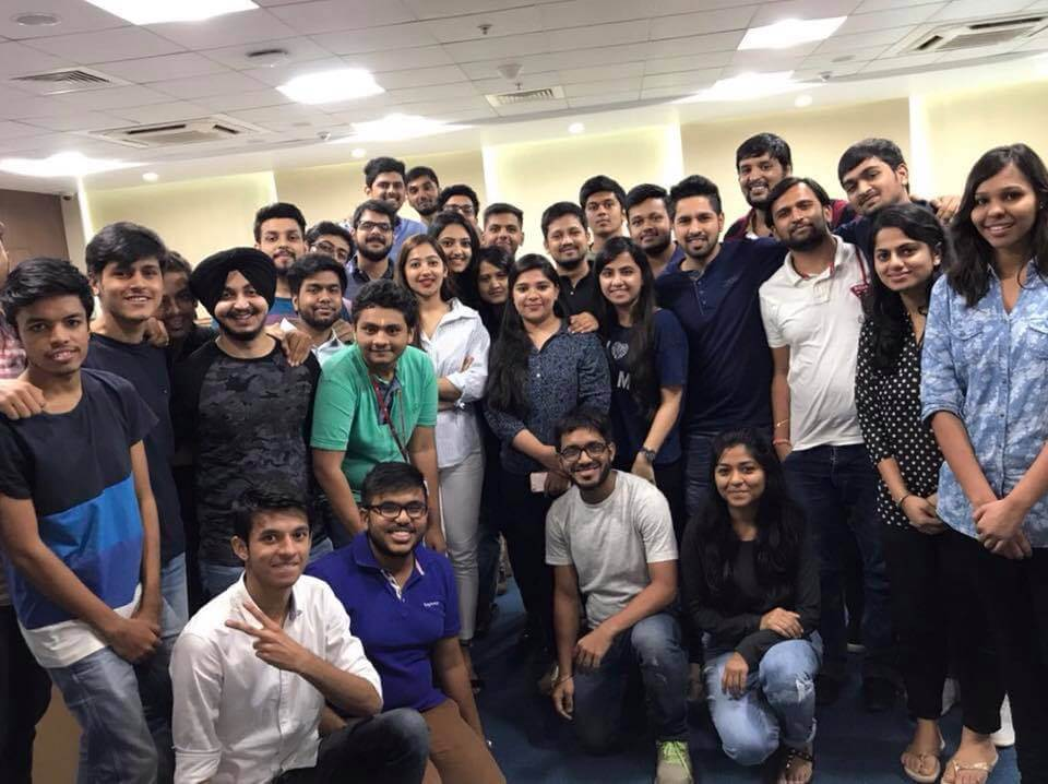 Twinkle Govindani with her students of NMIMS Business School (Batch I)