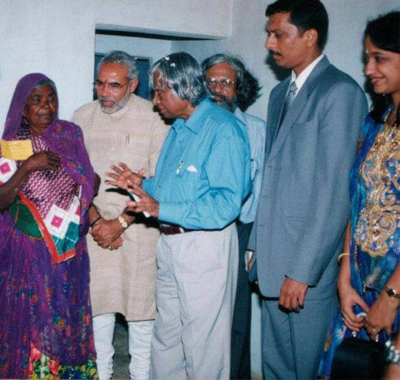 Mrs. Vidya Govindani with honorable Prime Minister of India – Mr. Narendra Modi & Ex. President of India – Dr. Abdul Kalam
