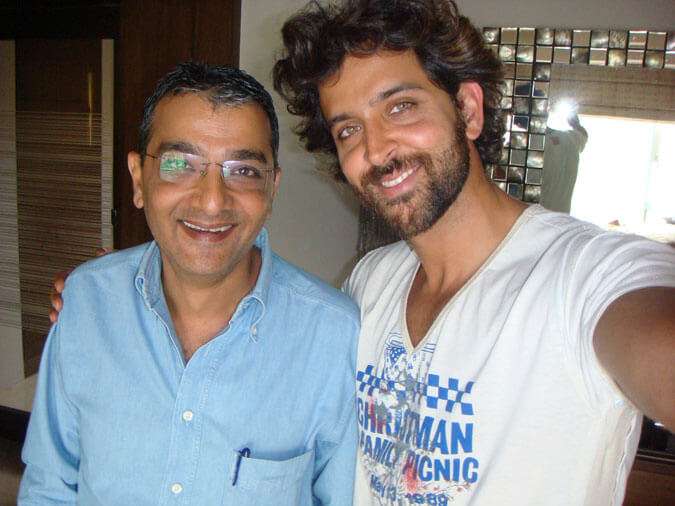 Mr. Dinesh Govindani with his student - Bollywood superstar Hritik Roshan