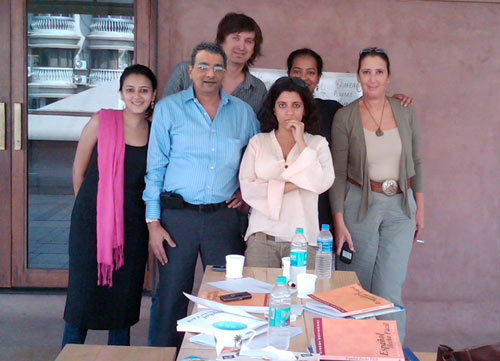 Mr. Dinesh Govindani training Zoya Akhtar and the team of Excel Entertainment (for the movie Zindagi Na Milegi Dobara)