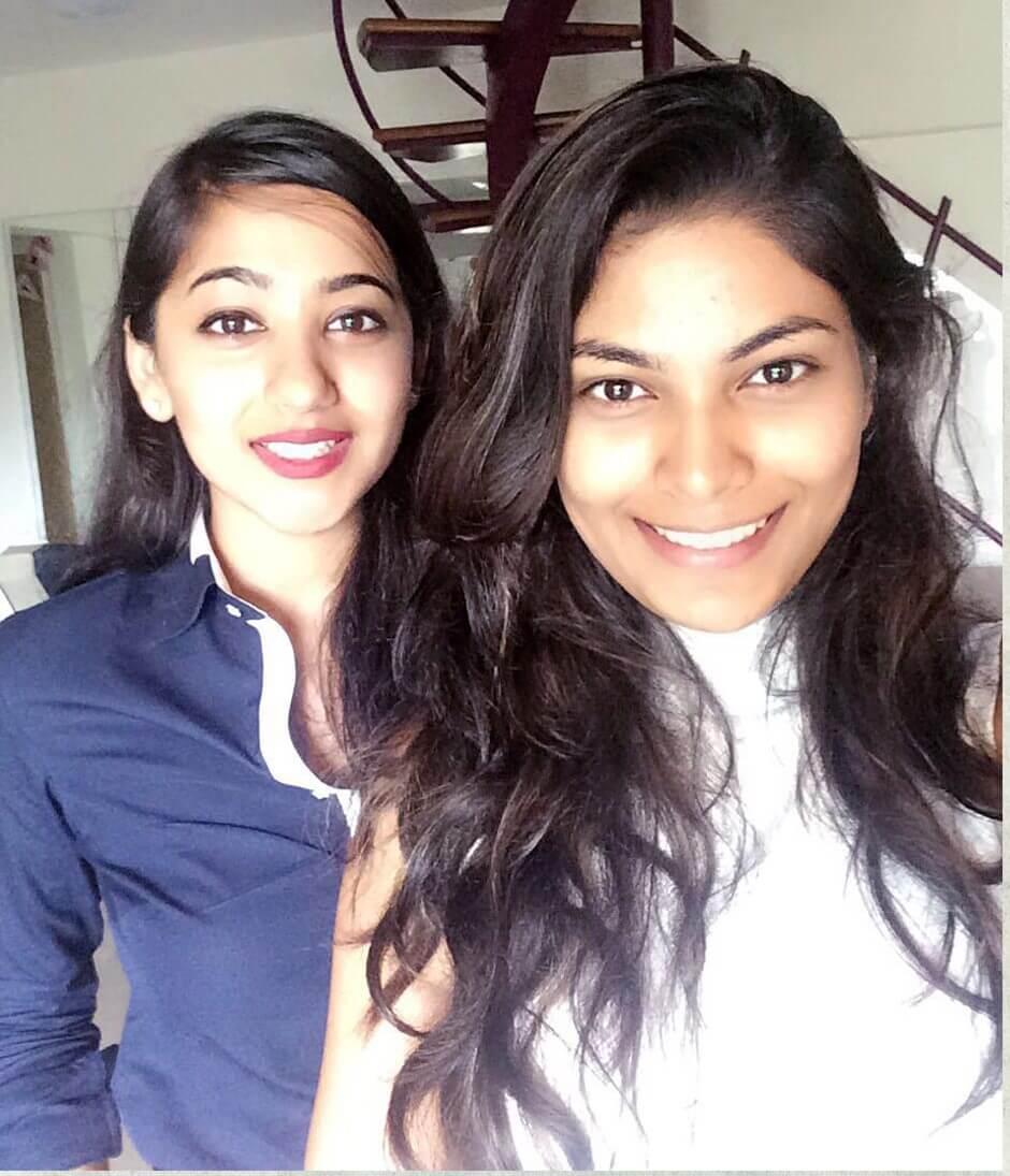 Twinkle Govindani with her student Ms. Lopamudra Raut, Miss United Continents 2016 2nd runner-up and Big Boss 10 contestant