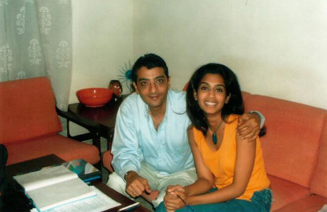 Mr. Dinesh Govindani with his student - actress Masumeh Makhija of Dus Kahaniyaan & 3 Storeys