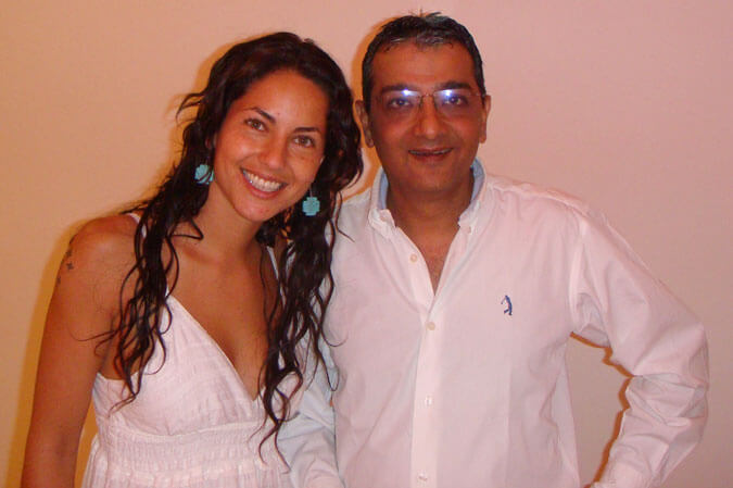 Mr. Dinesh Govindani with international actress Barbara Mori