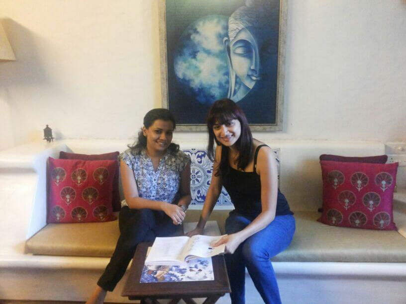 Our faculty, miss Khushboo Shah with Ms. Gauri Pradhan, one of the celebrity learners at Academia De Español