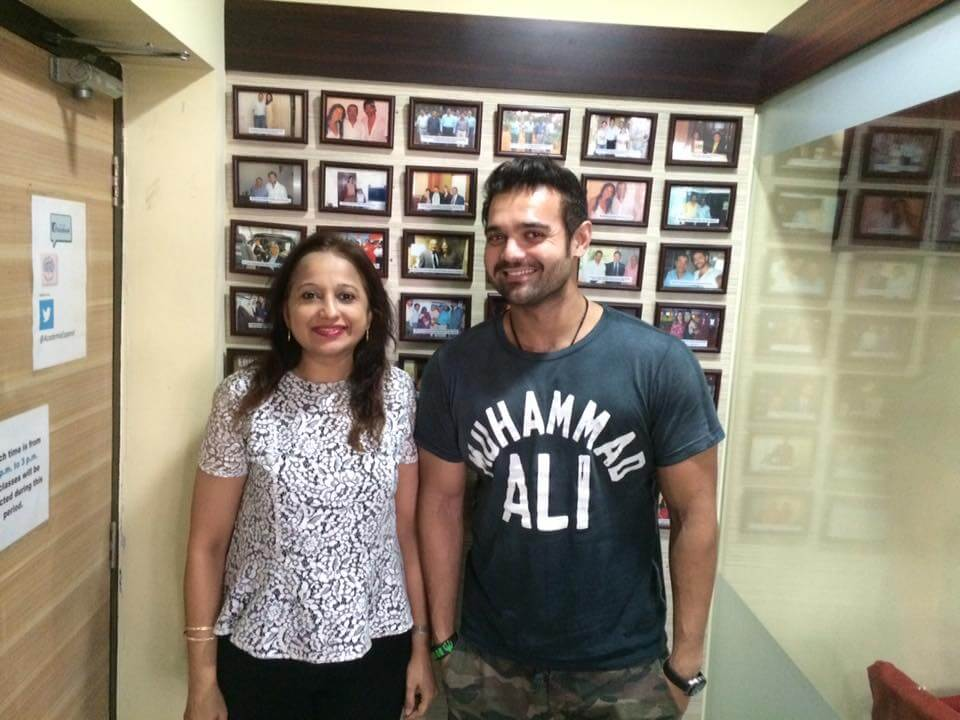 Vidya Govindani with Mimoh Chakraborty, one of our most recent celebrity students