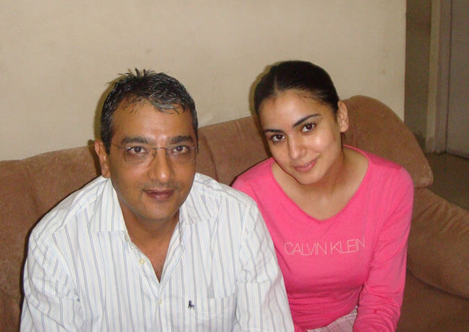Mr. Govindani with his student - actress & model Shraddha Arya