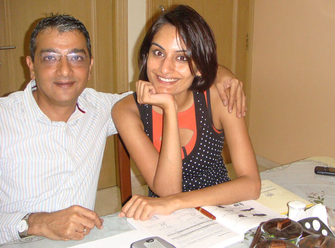 Mr. Dinesh Govindani with his student Ekta Chowdhary - Miss India Universe 2009