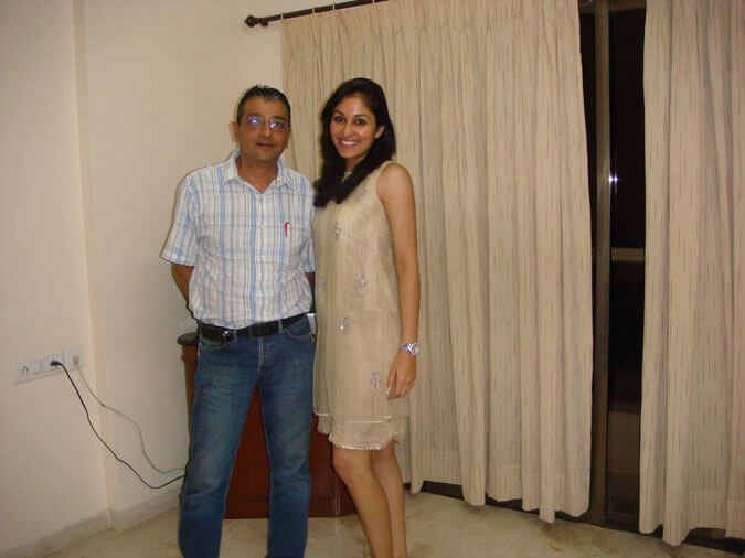 Mr. Dinesh Govindani with his student Pooja Chopra - Miss India World 2009