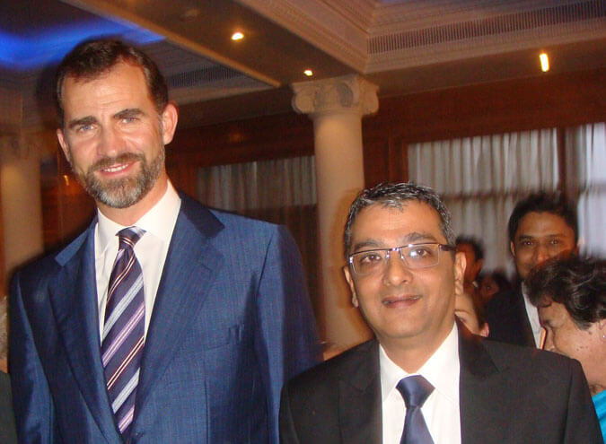 Mr. Dinesh Govindani with Felipe VI, the King of Spain
