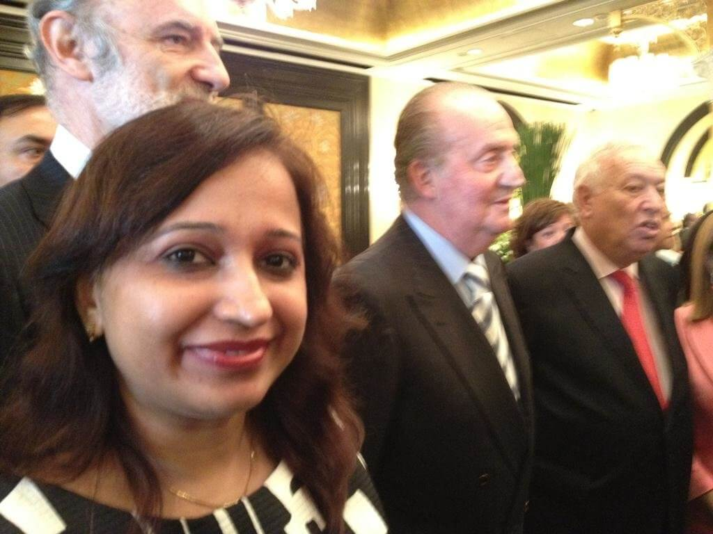 Mrs. Vidya Govindani with Juan Carlos I, former King of Spain