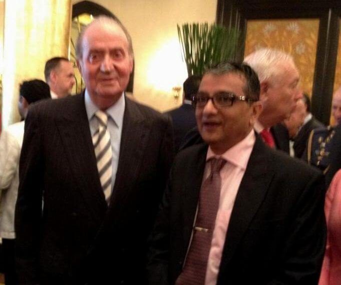 Mr. Dinesh Govindani with Juan Carlos I, former King of Spain