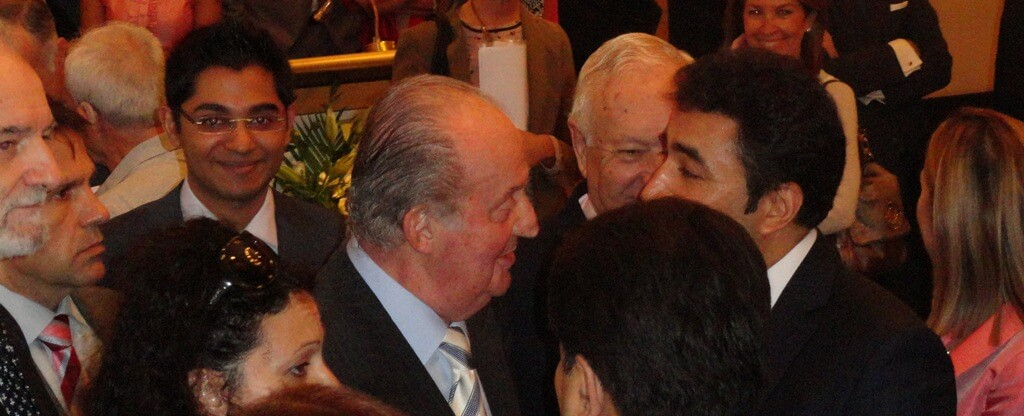 Mr. Navin Govindani with Juan Carlos I, former King of Spain
