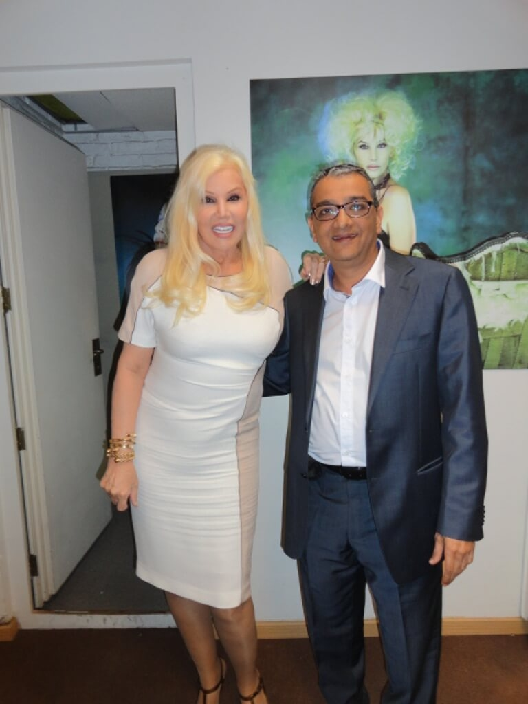Mr. Dinesh Govindani with the Argentine diva Susana Giménez