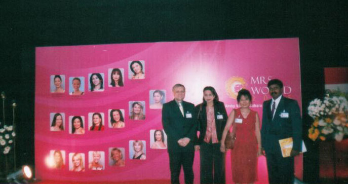 Mrs. Vidya Govindani at the Mrs. World Peagant 2003