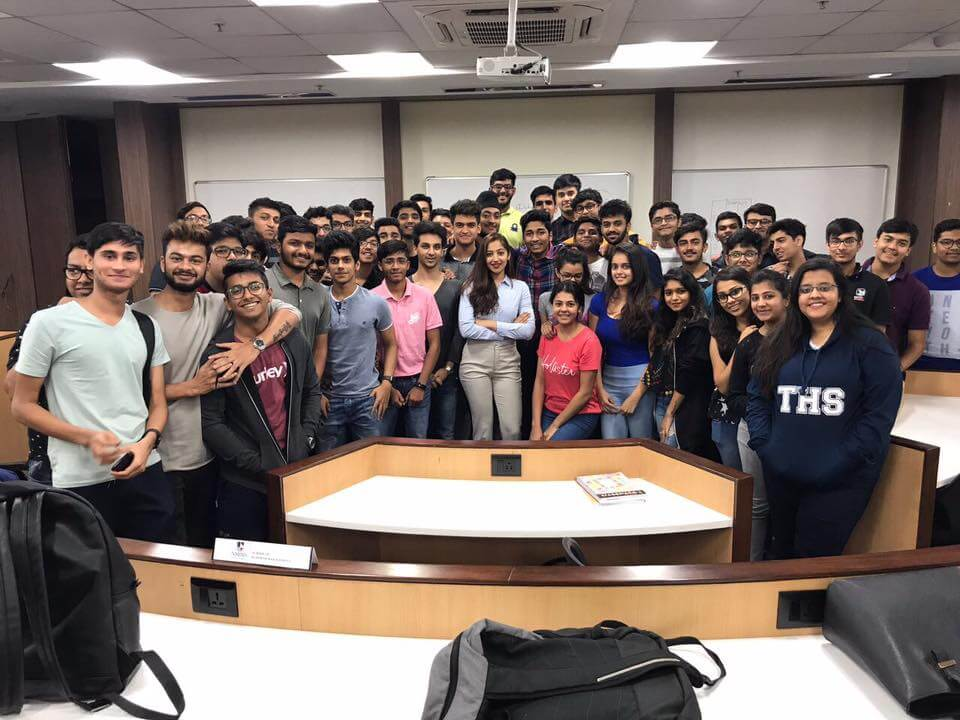 Twinkle Govindani with her students of NMIMS Business School (Batch II)