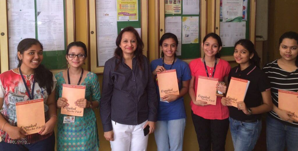 Vidya Govindani with her students at SIES College