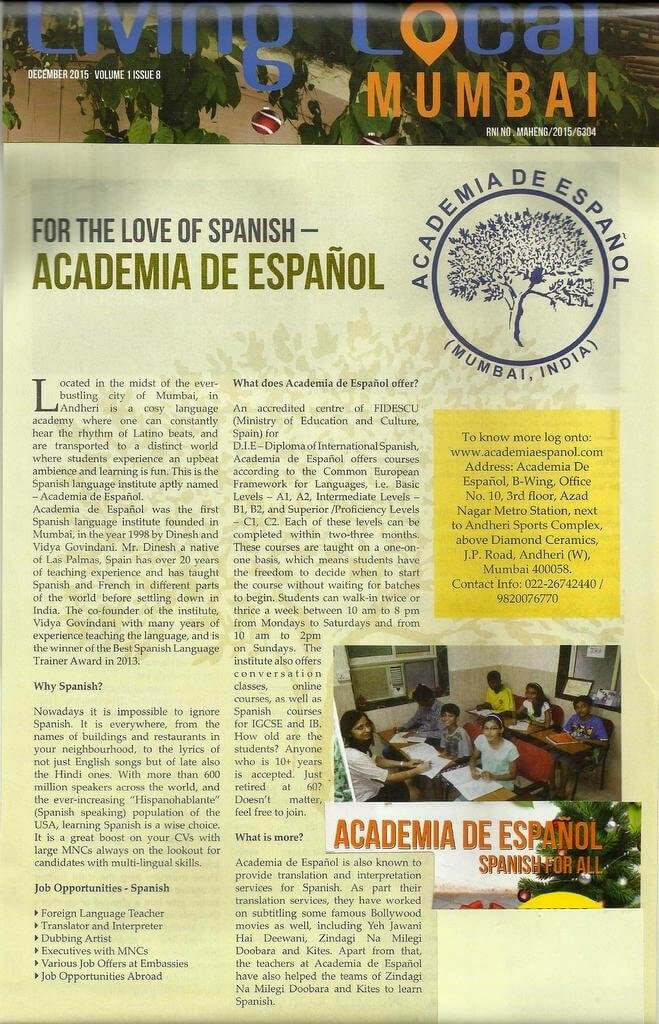 Living Local - For the Love of Spanish
